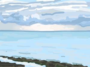 Danny Mooney 'Cloudy but bright, 4/11/2014' iPad painting #APAD