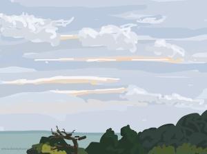 Danny Mooney 'Dusk begins early, 6/11/2014' iPad painting #APAD