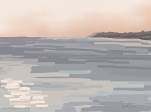 Danny Mooney 'Evening, 30/11/2014' iPad painting #APAD