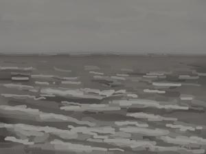 Danny Mooney 'Grey and wet, 2/11/2014' iPad painting #APAD