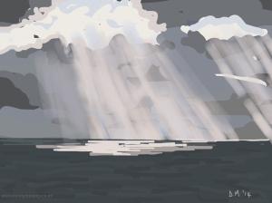 Danny Mooney 'Is it God?, 12/11/2014' iPad painting #APAD