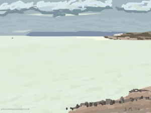 Danny Mooney 'Lone boat, 17/11/2014' iPad painting #APAD