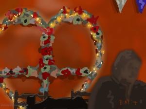 Danny Mooney 'Love (heart) Café, 3/11/2014' iPad painting #APAD