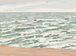 Danny Mooney 'Rough seas, 11/11/2014' iPad painting #APAD