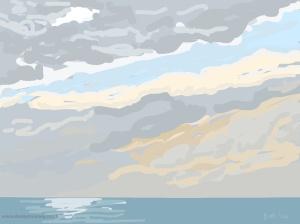 Danny Mooney 'Simply beautiful, 5/11/2014' iPad painting #APAD