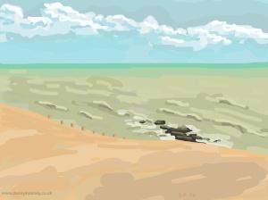 Danny Mooney 'Still beautiful, 1/11/2014' iPad painting #APAD