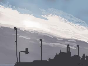 Danny Mooney 'From Falaise, 28/2015' iPad painting #APAD