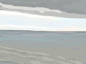 Danny Mooney 'Grey calm sea, 26/2015' iPad painting #APAD