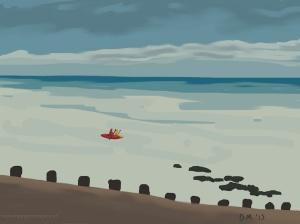 Danny Mooney 'Kayaks, 31/1/2015' iPad painting #APAD