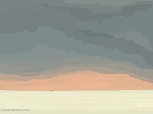 Danny Mooney 'Orange sky, 20/2015' iPad painting #APAD