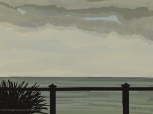 Danny Mooney 'Plant and railings, 27/2015' iPad painting #APAD