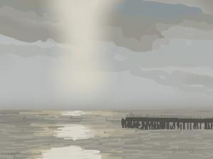 Danny Mooney 'Reflective sea, 23/2015' iPad painting #APAD