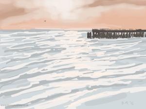 Danny Mooney 'Towards sunset, 16/2015' iPad painting #APAD