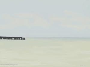 Danny Mooney 'Calm, 3/2/2015' iPad painting #APAD