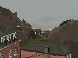 Danny Mooney 'From The School House, 28/2/2015' iPad painting #APAD
