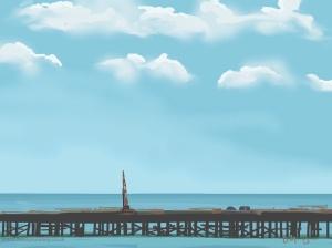 Danny Mooney 'Pier, 4/2/2015' iPad painting #APAD