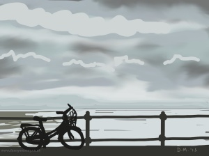 Danny Mooney 'Bike, 3/3/2015' iPad painting #APAD
