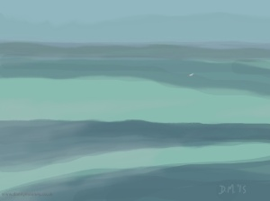 Danny Mooney 'Gull, 12/5/2015' iPad painting #APAD