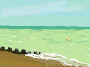Danny Mooney 'Orange buoy, 17/5/2015' iPad painting #APAD