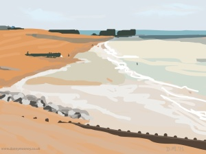 Danny Mooney 'Beach reflections, 10/6/2015' iPad painting #APAD