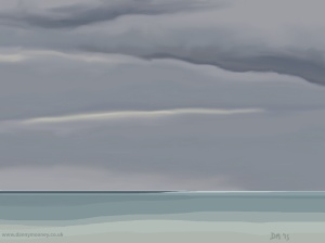 Danny Mooney 'Bright horizon, 9/6/2015' iPad painting #APAD