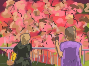 Danny Mooney 'Race for life, 14/6/2015' iPad painting #APAD