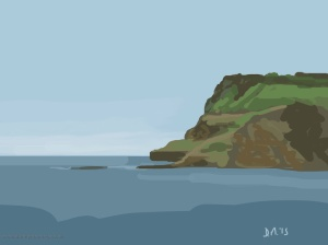 Danny Mooney 'Towards Ravenscar, 30/6/2015' iPad painting #APAD