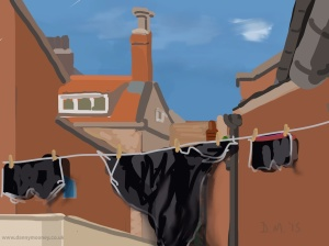 Danny Mooney 'Washing, 29/6/2015' iPad painting #APAD