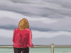 Danny Mooney 'Watching the waves, 13/6/2015' iPad painting #APAD