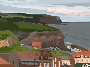 Danny Mooney 'Whitby, 28/6/2015' iPad painting #APAD