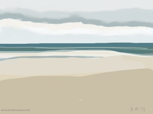 Danny Mooney 'Calm sea, 7/7/2015' iPad painting #APAD