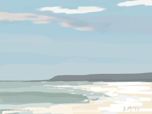 Danny Mooney 'Misty headland, 18/7/2015' iPad painting #APAD