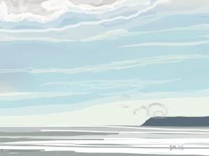 Danny Mooney 'Airbourne, 15/8/2015' iPad painting #APAD