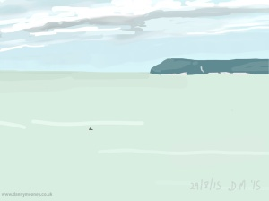 Danny Mooney 'Canoe, 29/8/2015' iPad painting #APAD