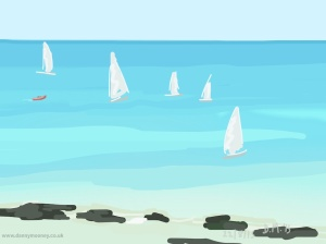 Danny Mooney 'Sailing club, 22/8/2015' iPad painting #APAD