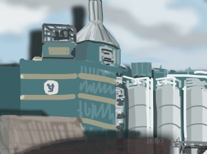 Danny Mooney 'Unilever, Warrington, 24/8/2015' iPad painting #APAD