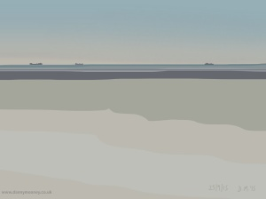 Danny Mooney 'I saw 3 ships, 25/9/2015' iPad painting #APAD