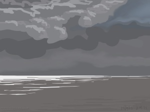 Danny Mooney 'Storm light, 22/9/2015' iPad painting #APAD