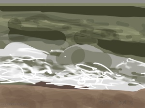 Danny Mooney 'Wave, 15/9/2015' iPad painting #APAD