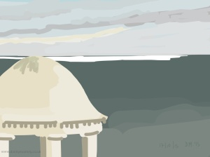 Danny Mooney 'From the DLWP, 17/10/2015' iPad painting #APAD