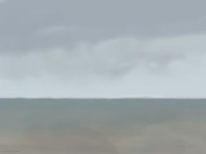 Danny Mooney 'Dirty weather, 14/11/2015' iPad painting #APAD