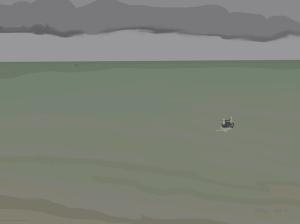 Danny Mooney 'Green sea, boats, 20/11/2015' iPad painting #APAD