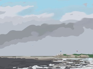 Danny Mooney 'Kite surfing, 18/11/2015' iPad painting #APAD