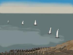 Danny Mooney 'Sails, 22/11/2015' iPad painting #APAD