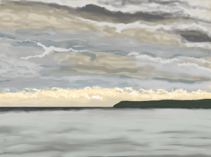 Danny Mooney 'Storm gathering, 25/11/2015' iPad painting #APAD