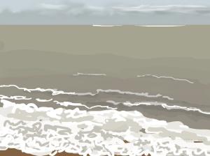 Danny Mooney 'Surf, 15/11/2015' iPad painting #APAD