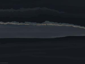 Danny Mooney '8:09, Still not light, 19/12/2015' iPad painting #APAD
