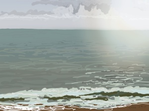 Danny Mooney 'Bright, 11/12/2015' iPad painting #APAD