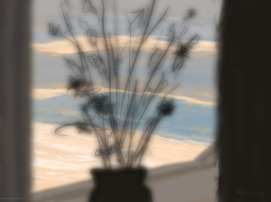 Danny Mooney 'Flowers in the window, 17/12/2015' iPad painting #APAD