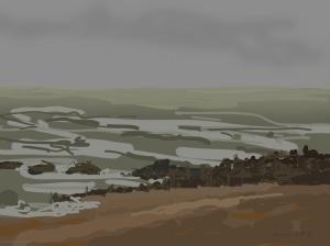 Danny Mooney 'Groyne, 16/12/2015' iPad painting #APAD